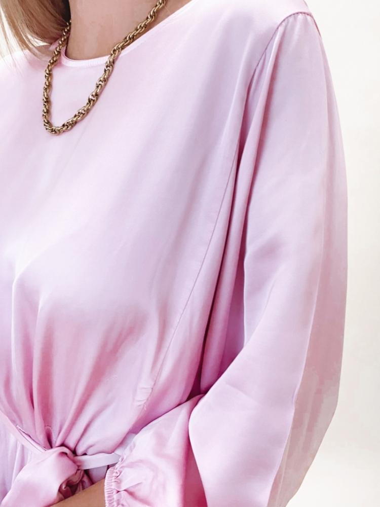 SINA SILK DRESS LILA logo