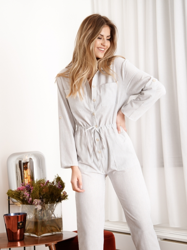 MICHELLE STRIPED JUMPSUIT logo