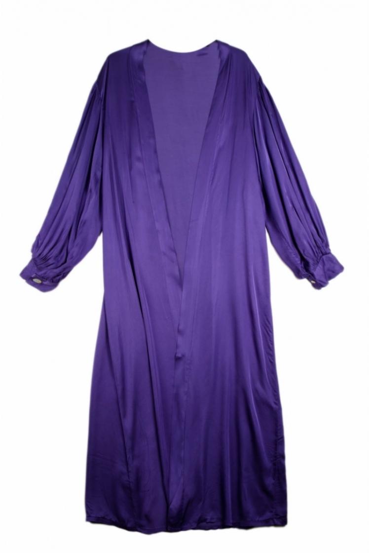 VANA BELTED LONG SATIN DRESS logo