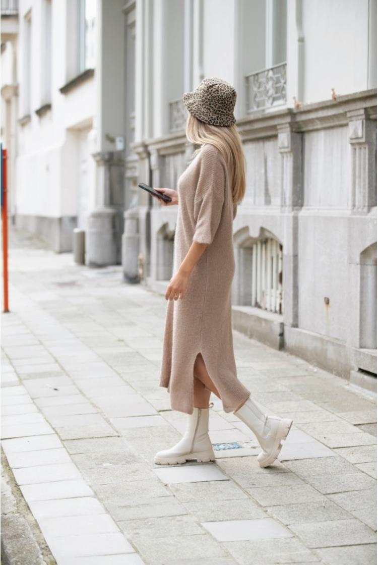 ELLE KNITTED DRESS CAMEL