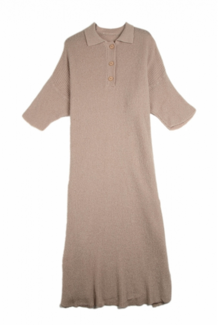 ELLE KNITTED DRESS SAND