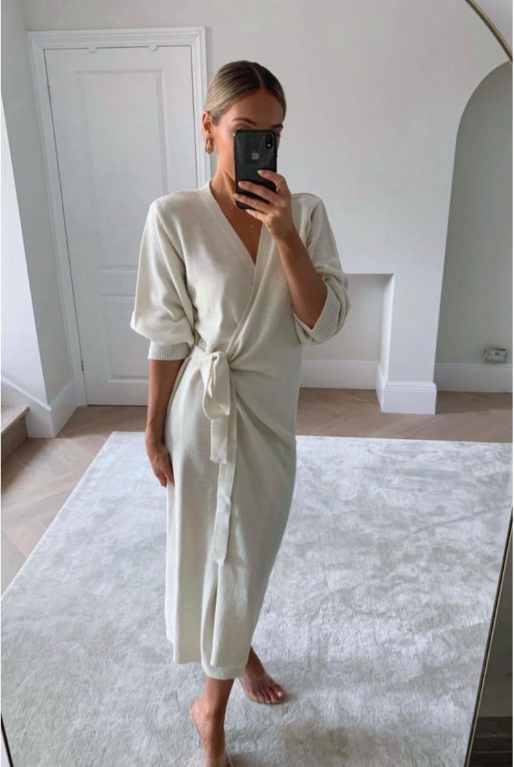 OLIVIA KNIT DRESS BEIGE