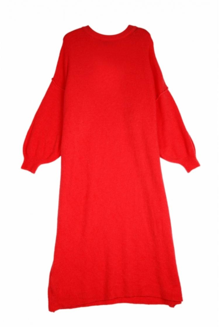 ELIA KNIT DRESS CANDY RED